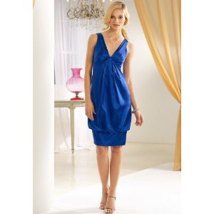 Chadwicks Banded Hem Cheap Cocktail Dress in Blue