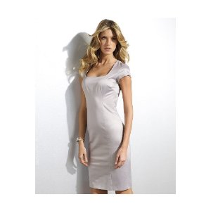 Spiegel Shape fx Satin Cap-Sleeve Control Cheap Cocktail Dress