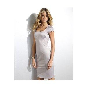 Spiegel Shape fx Satin Cap-Sleeve Control Cheap Cocktail Dress