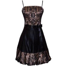 Satin Lace Bubble Dress Prom Holiday Gown JR   Plus Size Cocktail Dress