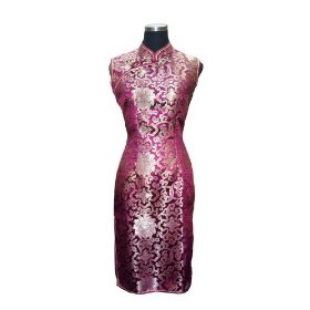 Magnificence Chinese brocade cocktail dress