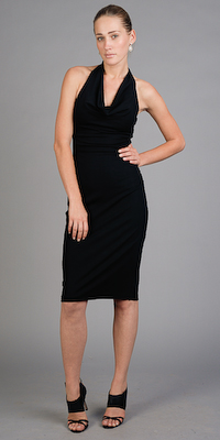 Nicole Miller Designer Cocktail Dress Black
