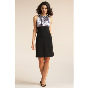 Chadwicks Beaded Neckline Party Womens Cocktail Dress