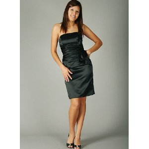 Prom Satin Tube Womens Cocktail Dresses