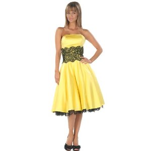 Yellow Prom Dress Cocktail Dress