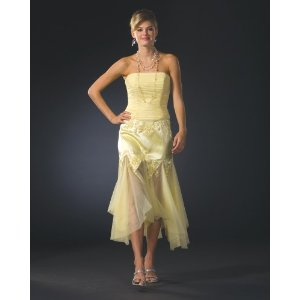 Strapless Yellow Cocktail Dress by Sean